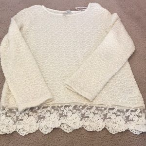 Forever 21 sweater with lace